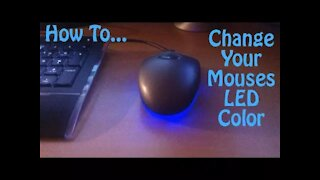 007 - How to Change Your Mouses LED Color