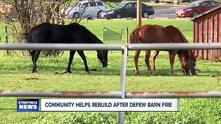 Community helps rebuild after Depew barn fire