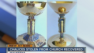 Catholic chalices snatched by thieves recovered - Video