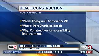 Port Charlotte Beach Park construction begins - Video