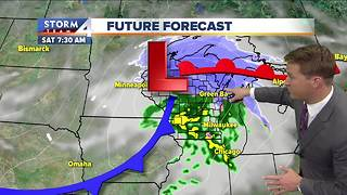 Quiet day Friday with highs in the 40s - Video