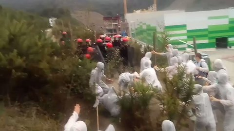 Basque Police Block Protesters March to Incinerator Construction Site