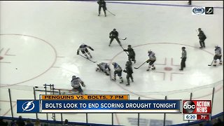 Bolts look to end scoring drought tonight