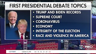 Presidential debate hours away