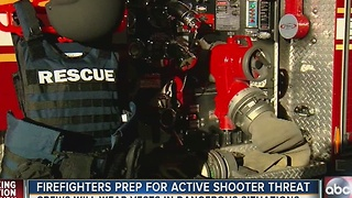 Firefighters getting bulletproof vests for active shooter emergencies - Video
