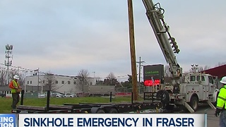 Sinkhole emergency in Fraser - Video