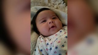 Baby Tries Saying I Love You - Video