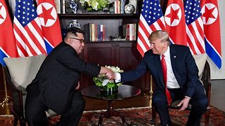 President Trump, Kim Jong-Un Meet For Historic Summit In Singapore - Video