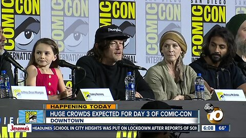 Huge crowds expected for Day 3 of Comic-Con