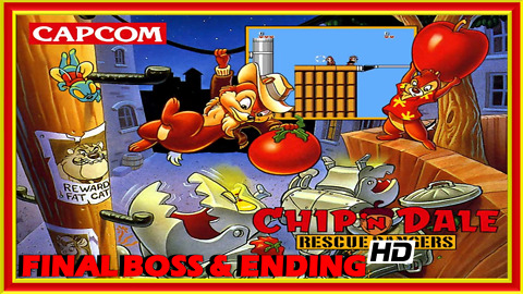 Chip 'n Dale's Rescue Rangers (NES) Final Boss Fight & Ending - 60 FPS HD