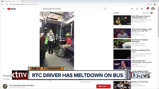 RTC bus driver caught on camera flipping out at passenger