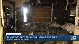 Family home destroyed on Christmas Eve in Phoenix