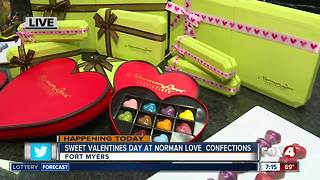 Sweet Valentines Day at Norman Love Confections - 7am live report - Video