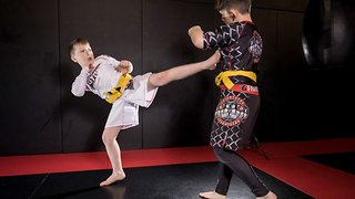 School of hard knocks! Four stone nine-year-old is world's youngest CAGE FIGHTER