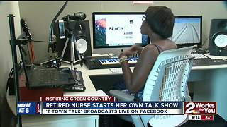 Retired nurse starts her own talk show - Video