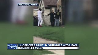 Man accused of attacking, injuring four Milwaukee Police officers - Video