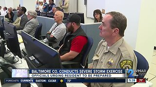 Baltimore County conducts severe storm exercise