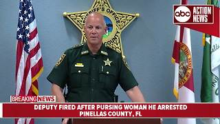 Pinellas County Sheriff fires deputy after investigation reveals he pursued woman he arrested - Video