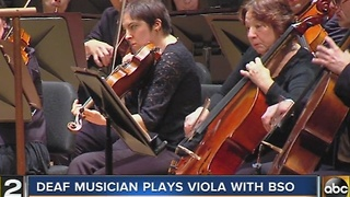 Deaf musician plays viola with Baltimore Symphony Orchestra - Video