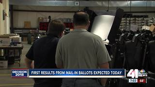 Mail-in ballots for KS primary counted today - Video