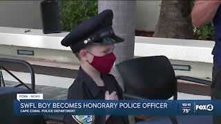 SWFL boy becomes honorary police officer