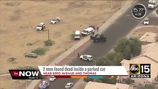 Two men found dead inside parked car in west Phoenix - Video