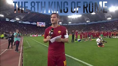 Totti is a legend: soccer's most moving farewell ever