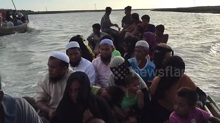 On board Rohingya boat as refugees continue to flee - Video