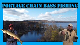 Portage Chain Bass Fishing Finding Deep Bass 2020