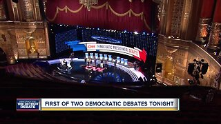 TONIGHT: First of two Democratic debates in Detroit