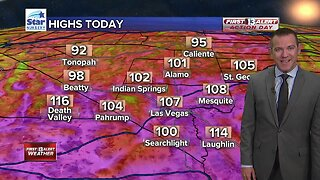 13 First Alert Las Vegas weather updated August 20 morning