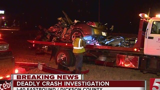 Woman Killed In I-40 Crash In Dickson County - Video