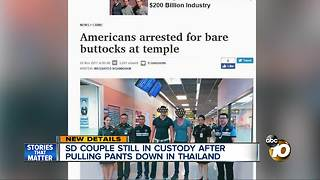 SD couple drops pants at sacred Thai temple - Video