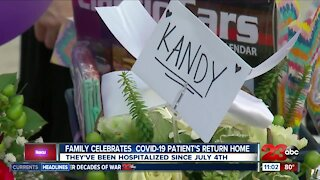 Family celebrates COVID-19 loved ones return home