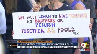 Groups hold rally Downtown in solidarity with Charlottesville