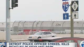 Detroit police officer involved in deadly accident - Video