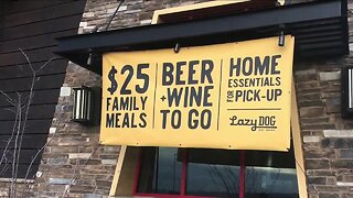 Lazy Dog restaurants offering family meals and pantry essentials boxes