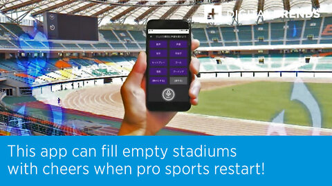 This app can fill empty stadiums with cheers when pro sports restart