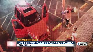 Life-size nutcrackers stolen from restaurant - Video