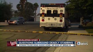 Woman stabbed in home near Torrey Pines, Vegas Drive