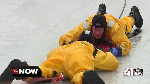 Grandview trains for ice rescues during harsh winter season