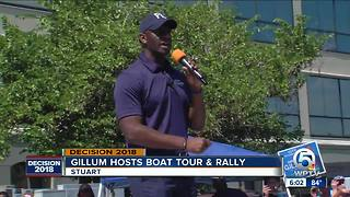 Andrew Gillum hosts boat tour and rally in Stuart - Video