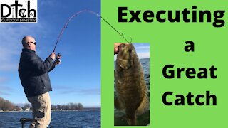 Executing a Great catch Smallmouth Bass Fishing