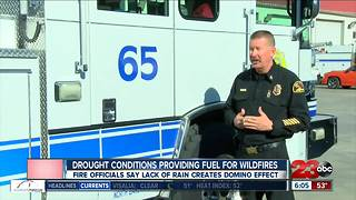 Fire threat continues for Kern County - Video