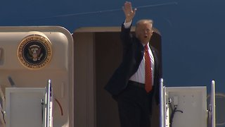FULL VIDEO: Trump boards Air Force One for Arizona - Video