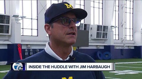 Jim Harbaugh talks to WXYZ after loss to Penn State, says he sees Shea Patterson playing in the NFL