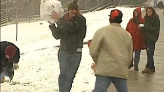 From The Vault: Snowball fights on Halloween weekend in Cincinnati in 1993 - Video