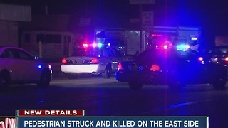 Pedestrian killed while crossing the road on Indy's east side - Video