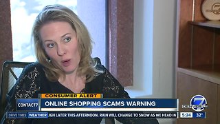 Warning about online shopping scams
