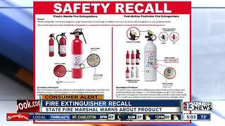 Fire extinguisher recall issued